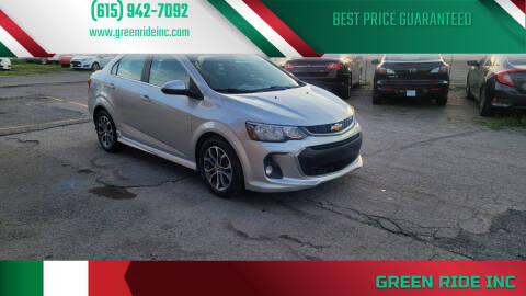 2017 Chevrolet Sonic for sale at Green Ride Inc in Nashville TN