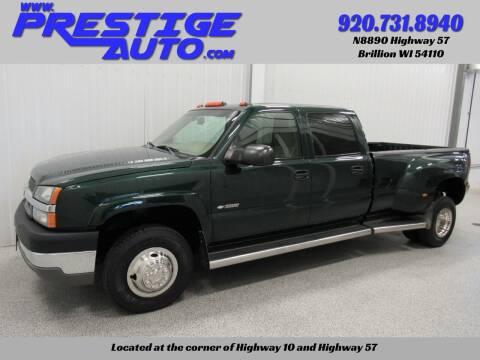 2003 Chevrolet Silverado 3500 for sale at Prestige Auto Sales in Brillion WI