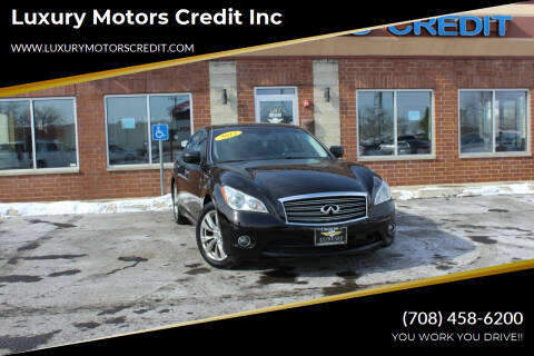 2012 Infiniti M35h for sale at Luxury Motors Credit Inc in Bridgeview IL