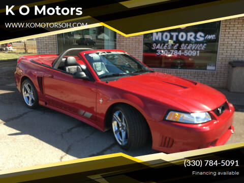 2000 Ford Mustang for sale at K O Motors in Akron OH