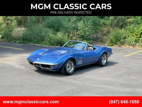 1969 Chevrolet Corvette for sale at MGM CLASSIC CARS-New Arrivals in Addison IL