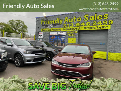 2015 Chrysler 200 for sale at Friendly Auto Sales in Detroit MI