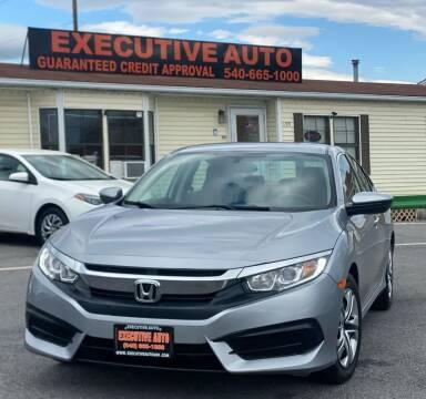 2018 Honda Civic for sale at Executive Auto in Winchester VA