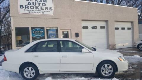 2002 Toyota Avalon for sale at De Kam Auto Brokers in Colorado Springs CO