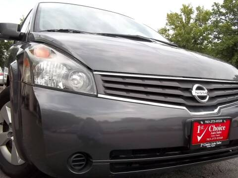 2008 Nissan Quest for sale at 1st Choice Auto Sales in Fairfax VA