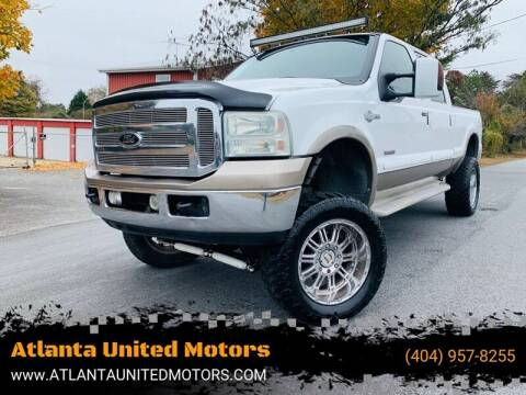 2007 Ford F-250 Super Duty for sale at Atlanta United Motors in Buford GA