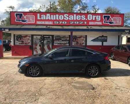 2019 Honda Civic for sale at LA Auto Sales in Monroe LA