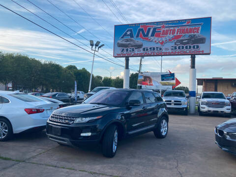 2013 Land Rover Range Rover Evoque for sale at ANF AUTO FINANCE in Houston TX