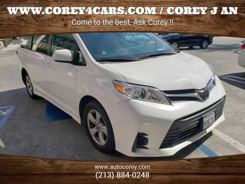 2019 Toyota Sienna for sale at WWW.COREY4CARS.COM / COREY J AN in Los Angeles CA