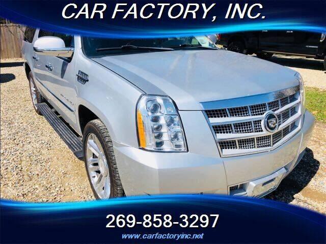 2012 Cadillac Escalade ESV for sale at Car Factory Inc. in Three Rivers MI