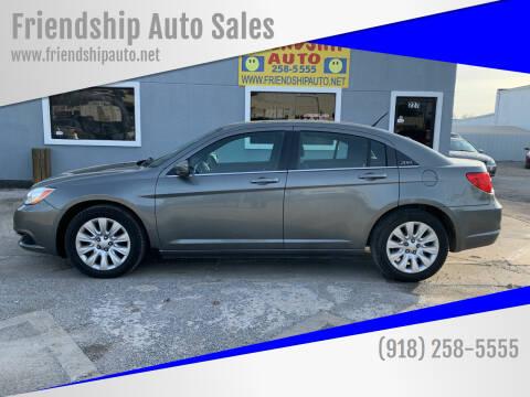 2013 Chrysler 200 for sale at Friendship Auto Sales in Broken Arrow OK