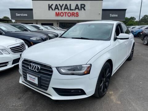 2013 Audi A4 for sale at KAYALAR MOTORS in Houston TX