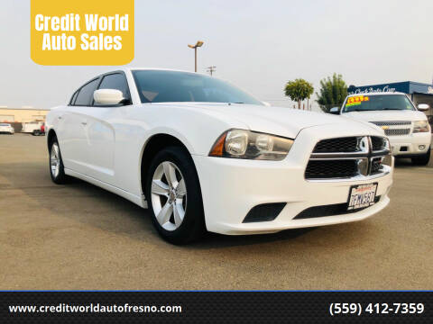 2014 Dodge Charger for sale at Credit World Auto Sales in Fresno CA