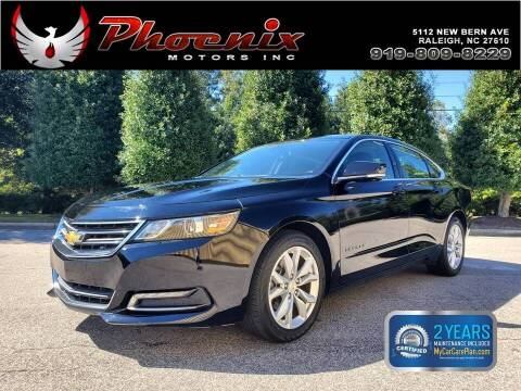 2018 Chevrolet Impala for sale at Phoenix Motors Inc in Raleigh NC