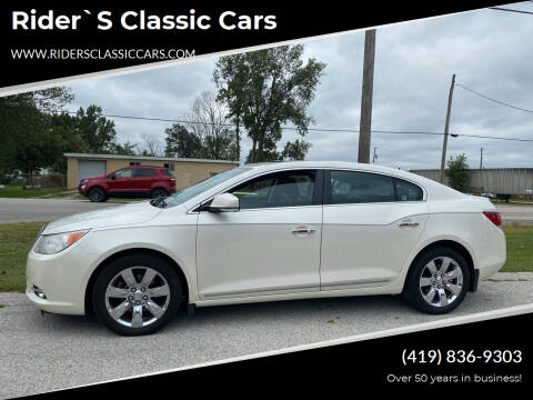 2011 Buick LaCrosse for sale at Rider`s Classic Cars in Millbury OH
