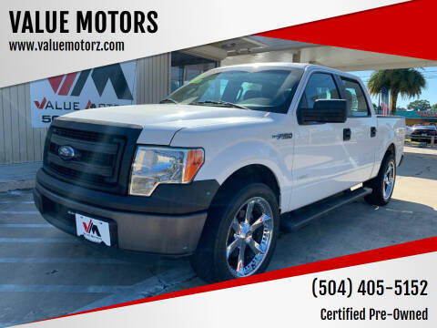 2013 Ford F-150 for sale at VALUE MOTORS in Kenner LA
