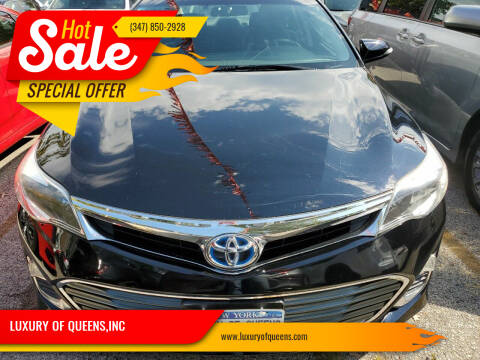 2014 Toyota Avalon Hybrid for sale at LUXURY OF QUEENS,INC in Long Island City NY