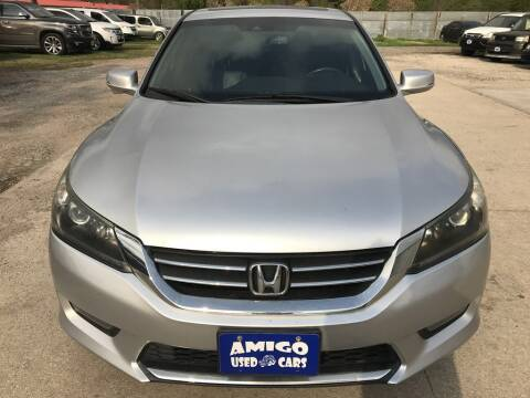2014 Honda Accord for sale at AMIGO USED CARS in Houston TX