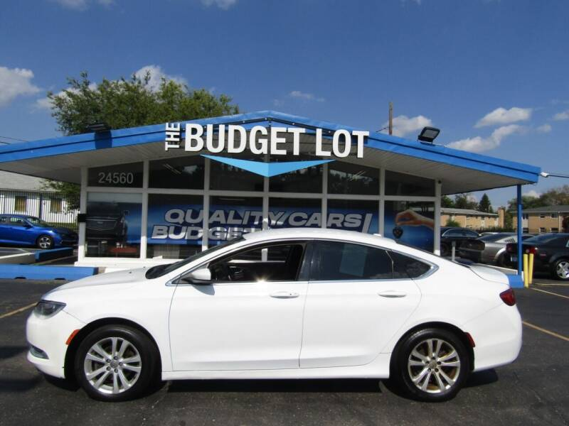 2015 Chrysler 200 for sale at THE BUDGET LOT in Detroit MI