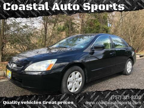 2004 Honda Accord for sale at Coastal Auto Sports in Chesapeake VA