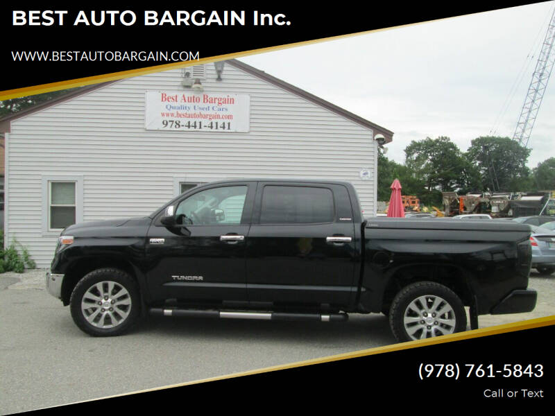 2015 Toyota Tundra for sale at BEST AUTO BARGAIN inc. in Lowell MA