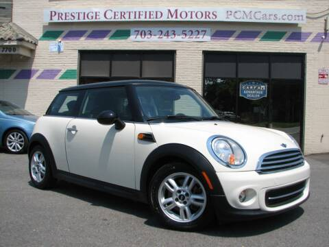 2013 MINI Hardtop for sale at Prestige Certified Motors in Falls Church VA