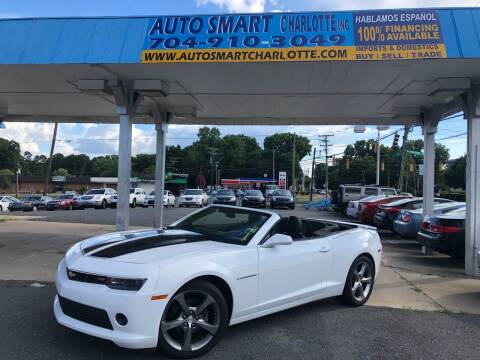 2014 Chevrolet Camaro for sale at Auto Smart Charlotte in Charlotte NC