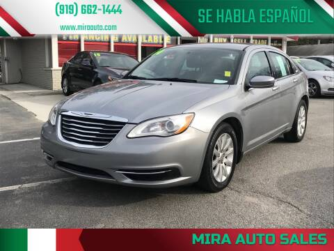 2014 Chrysler 200 for sale at Mira Auto Sales in Raleigh NC