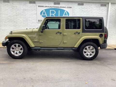 2013 Jeep Wrangler Unlimited for sale at ARIA AUTO SALES INC.COM in Raleigh NC