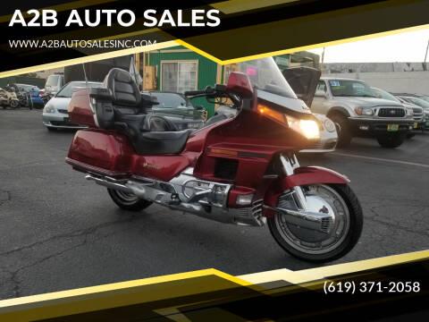 1992 Honda GOLD WING GL ASPENCADE for sale at A2B AUTO SALES in Chula Vista CA