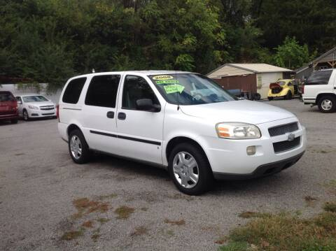 2008 Chevrolet Uplander for sale at GIB'S AUTO SALES in Tahlequah OK