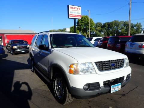 2002 Ford Explorer for sale at Marty's Auto Sales in Savage MN