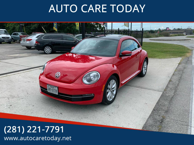 2014 Volkswagen Beetle for sale at AUTO CARE TODAY in Spring TX