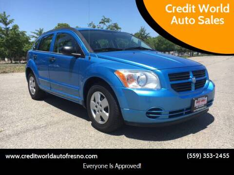 2008 Dodge Caliber for sale at Credit World Auto Sales in Fresno CA