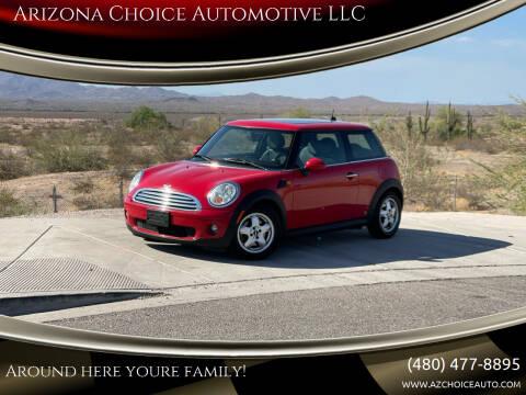 2010 MINI Cooper for sale at Arizona Choice Automotive LLC in Mesa AZ