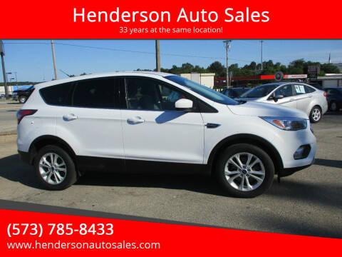 2017 Ford Escape for sale at Henderson Auto Sales in Poplar Bluff MO