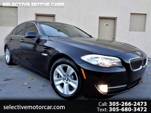 2012 BMW 5 Series for sale at Selective Motor Cars in Miami FL