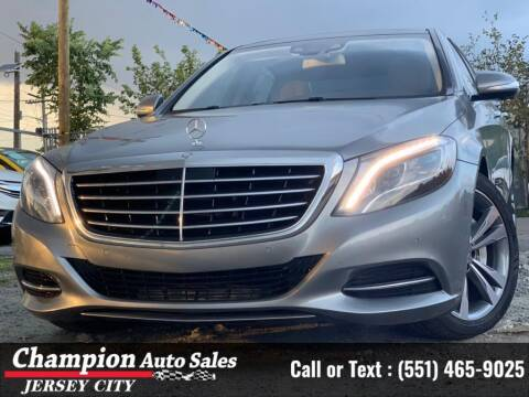 2015 Mercedes-Benz S-Class for sale at CHAMPION AUTO SALES OF JERSEY CITY in Jersey City NJ