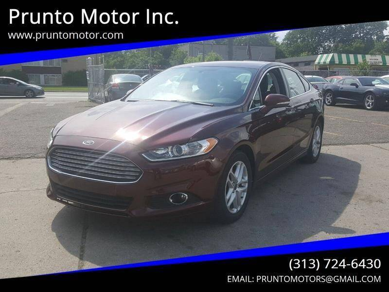 2015 Ford Fusion for sale at Prunto Motor Inc. in Dearborn MI
