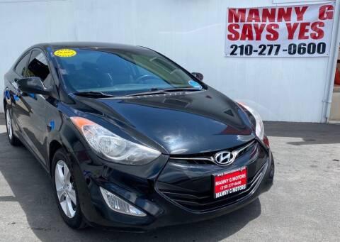 2013 Hyundai Elantra Coupe for sale at Manny G Motors in San Antonio TX