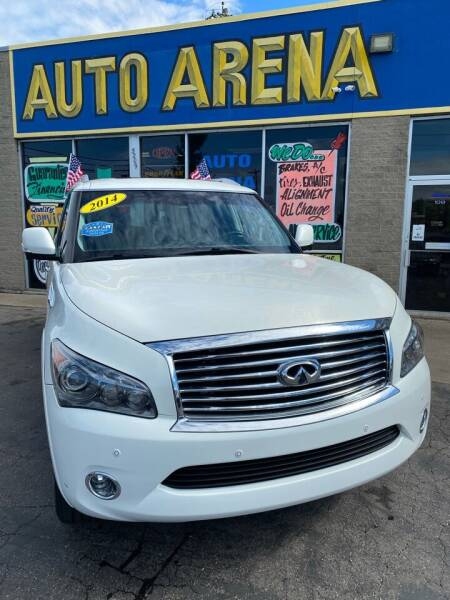 2014 Infiniti QX80 for sale at Auto Arena in Fairfield OH