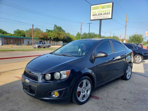 2015 Chevrolet Sonic for sale at Shock Motors in Garland TX