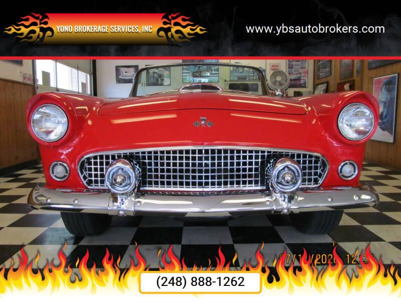 1955 Ford Thunderbird for sale at Yono Brokerage Services, INC in Farmington MI