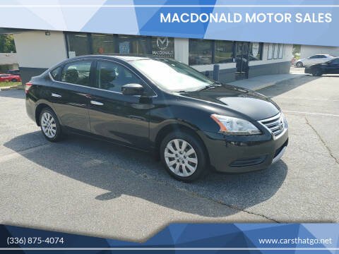2014 Nissan Sentra for sale at MacDonald Motor Sales in High Point NC