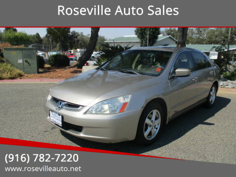 2003 Honda Accord for sale at Roseville Auto Sales in Roseville CA