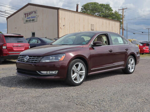 2012 Volkswagen Passat for sale at Terrys Auto Sales in Somerset PA