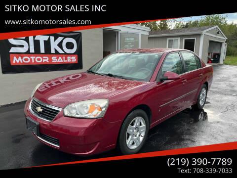 2006 Chevrolet Malibu for sale at SITKO MOTOR SALES INC in Cedar Lake IN