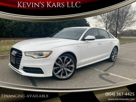 2013 Audi A6 for sale at Kevin's Kars LLC in Richmond VA