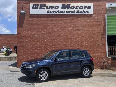 2013 Volkswagen Tiguan for sale at Euro Motors LLC in Raleigh NC