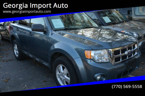 2011 Ford Escape for sale at Georgia Import Auto in Alpharetta GA
